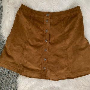 A&F suede mini skirt (slight flare)